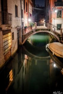 Venice Night Reflections
