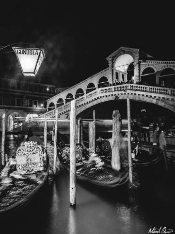 Venice Rialto Bridge Night