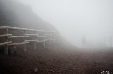 Vesuvius in the Clouds